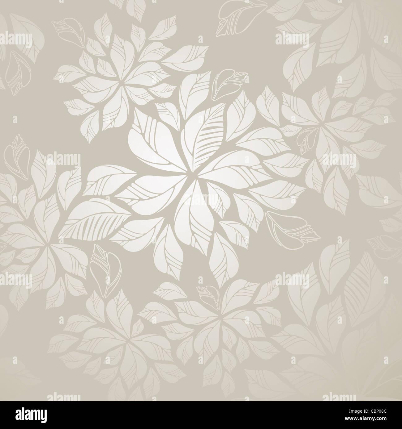 Fall Leaves Hd Mobile Wallpaper Seamless Grey Silver Leaves Foliage Wallpaper Pattern