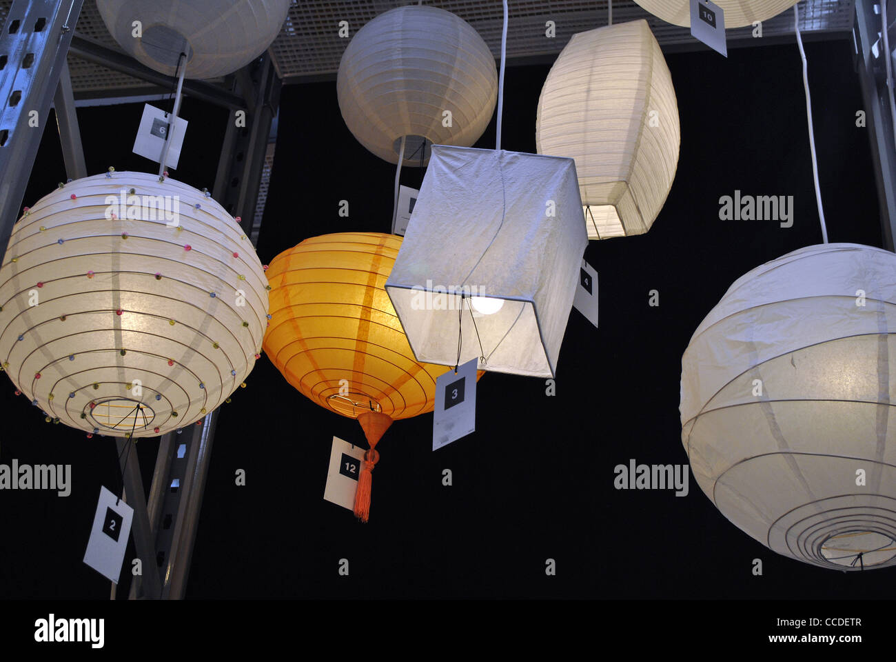 Paper Light Shades Paper Lightshades Stock Photo 42093655 Alamy