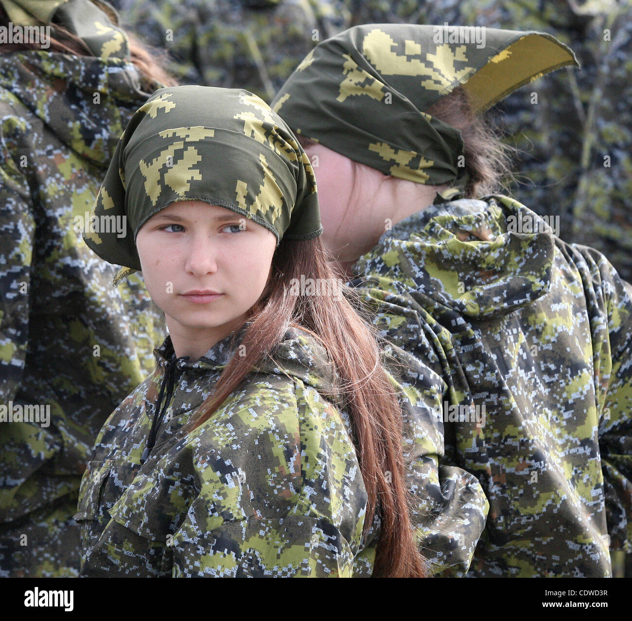Army Pin Up Girl Wallpaper Russian Teenagers Are Getting Military Skills During The