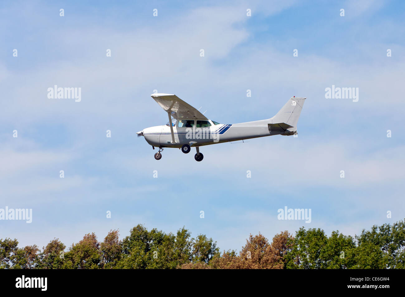 Cessna Plane A Cessna Plane In Flight In The Sky Stock Photo 43170880 Alamy