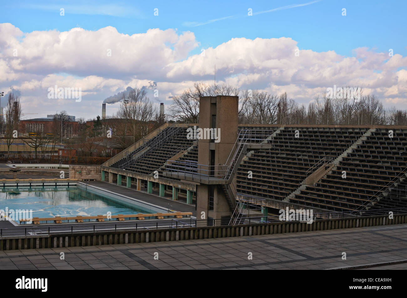 Outdoor Swimming Pool Berlin Olympic Swimming Pool Empty Stock Photos And Olympic