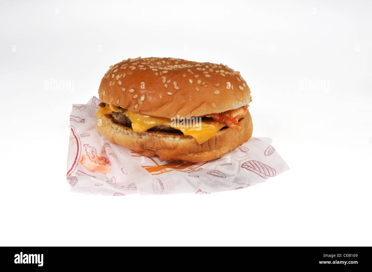 Burger King Double Cheeseburger Burger King Double Cheeseburger With Wrapper Packaging On
