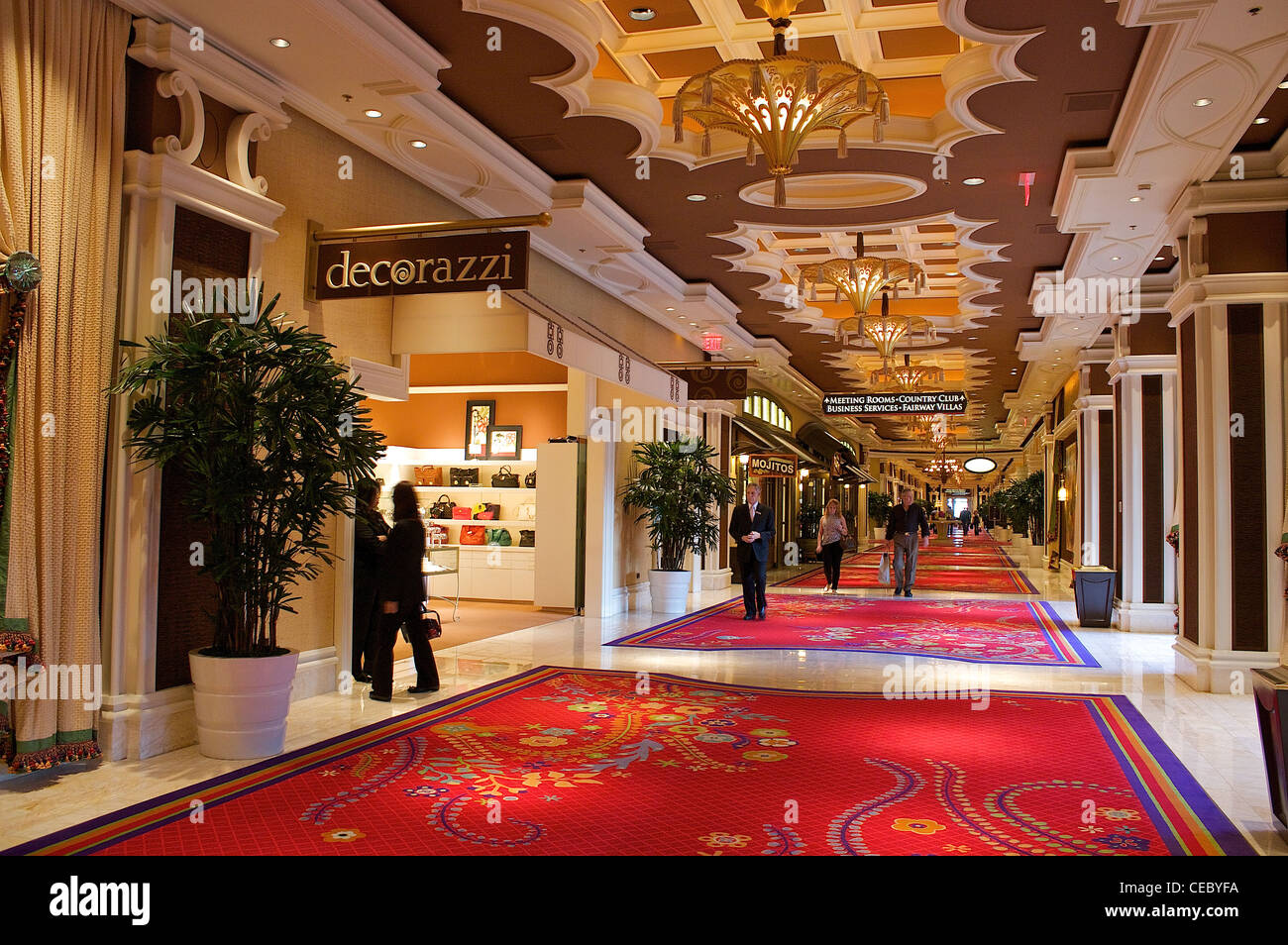 Elegant Kitchen Cabinets Las Vegas People Walk Through An Elegant Hall Lined With Shops