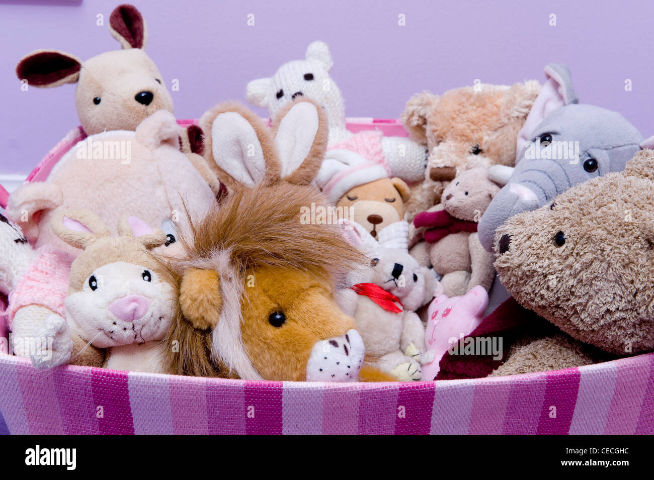 Toy Box Toys A Toy Box Full Of Soft Toys Stock Photo 43302376 Alamy