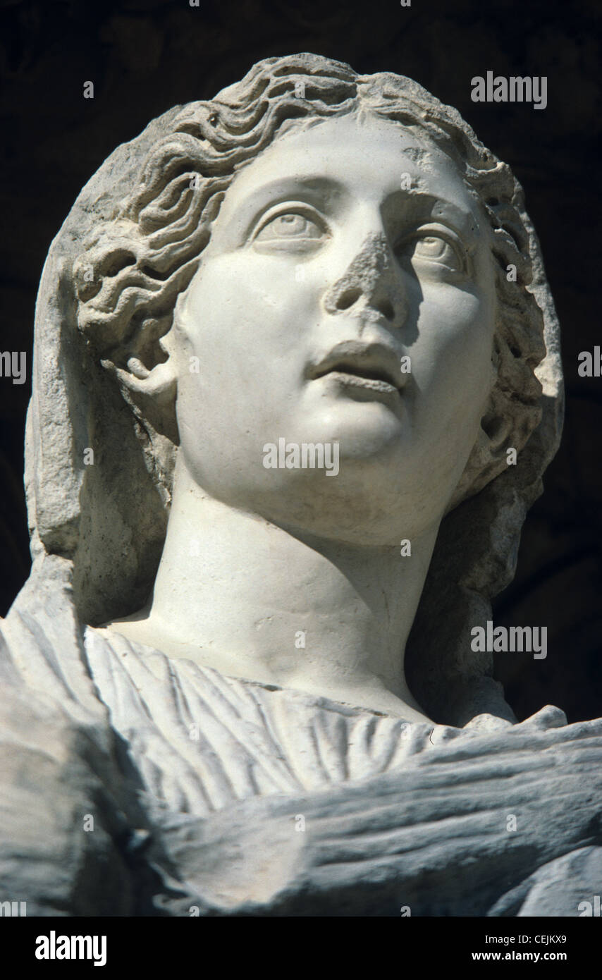 Arete From Greek Classical Greek Portrait Statue Of Arete Or Virtue Celsus Library