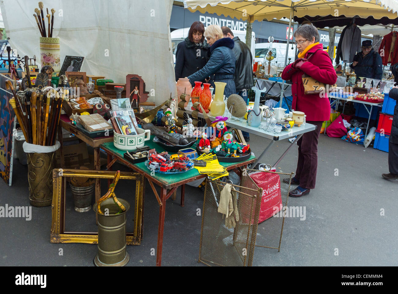 Brocante Cours De Vincennes Adults Brocante City Life Stock Photos Adults Brocante City Life