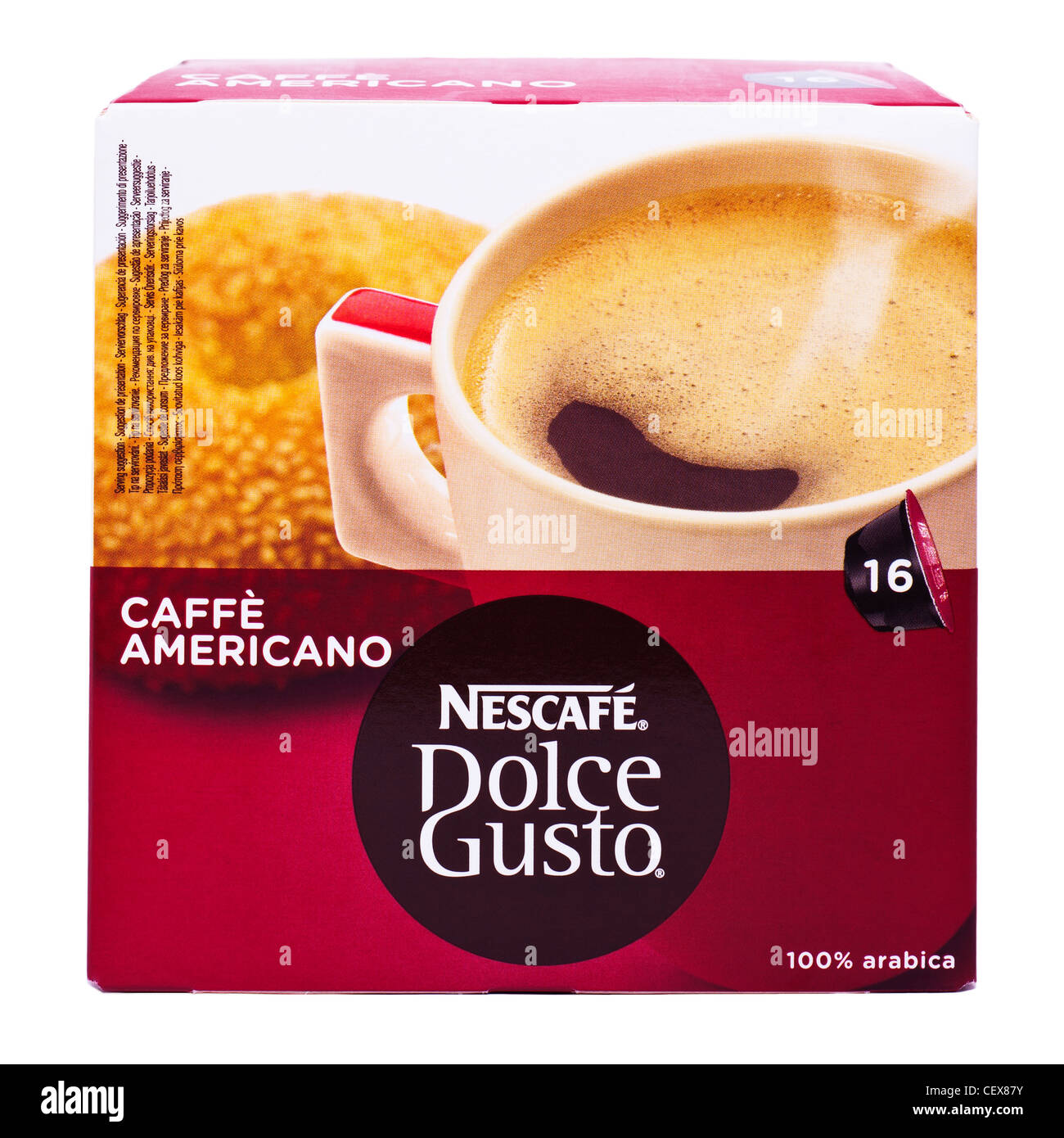 Americano Coffee English A Box Of Nescafe Dolce Gusto Cafe Americano Coffee Pods