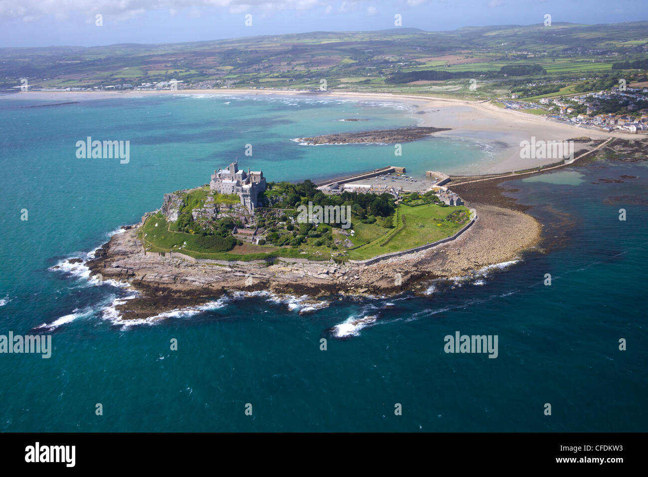 Maine Fall Foliage Wallpaper Aerial View Of St Michael S Mount Penzance Lands End