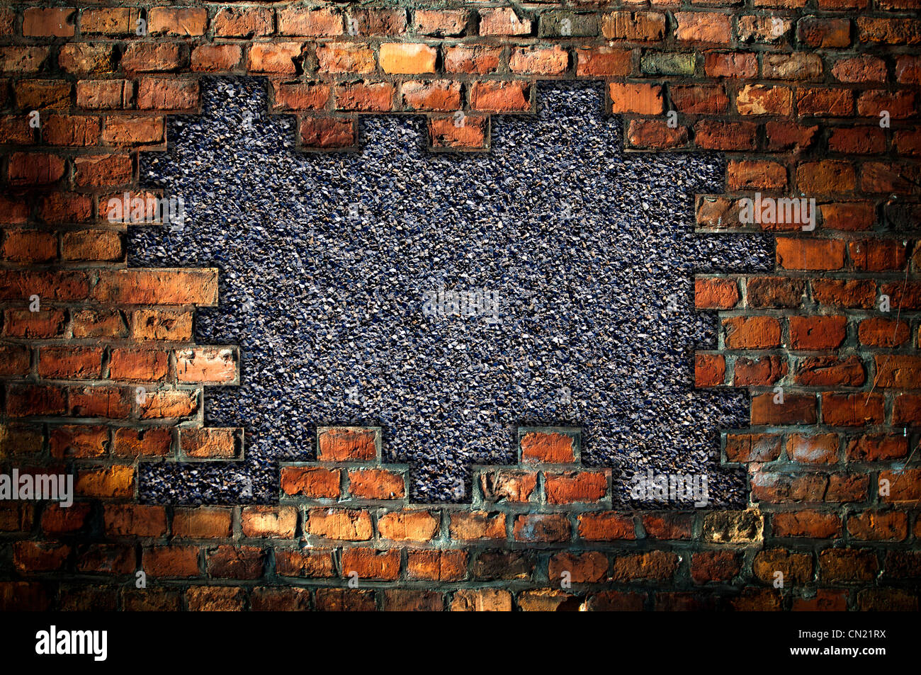 Black Hole Live Wallpaper Hole In An Old Brick Wall Background Stock Photo