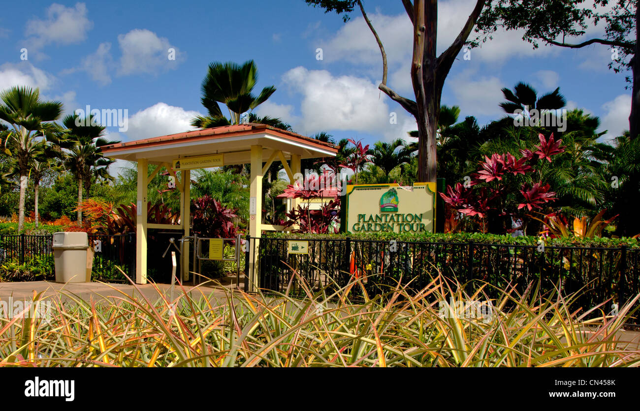 The Plantation Garden Tour At The Dole Plantation In Wahiawa Oahu Stock Photo Alamy