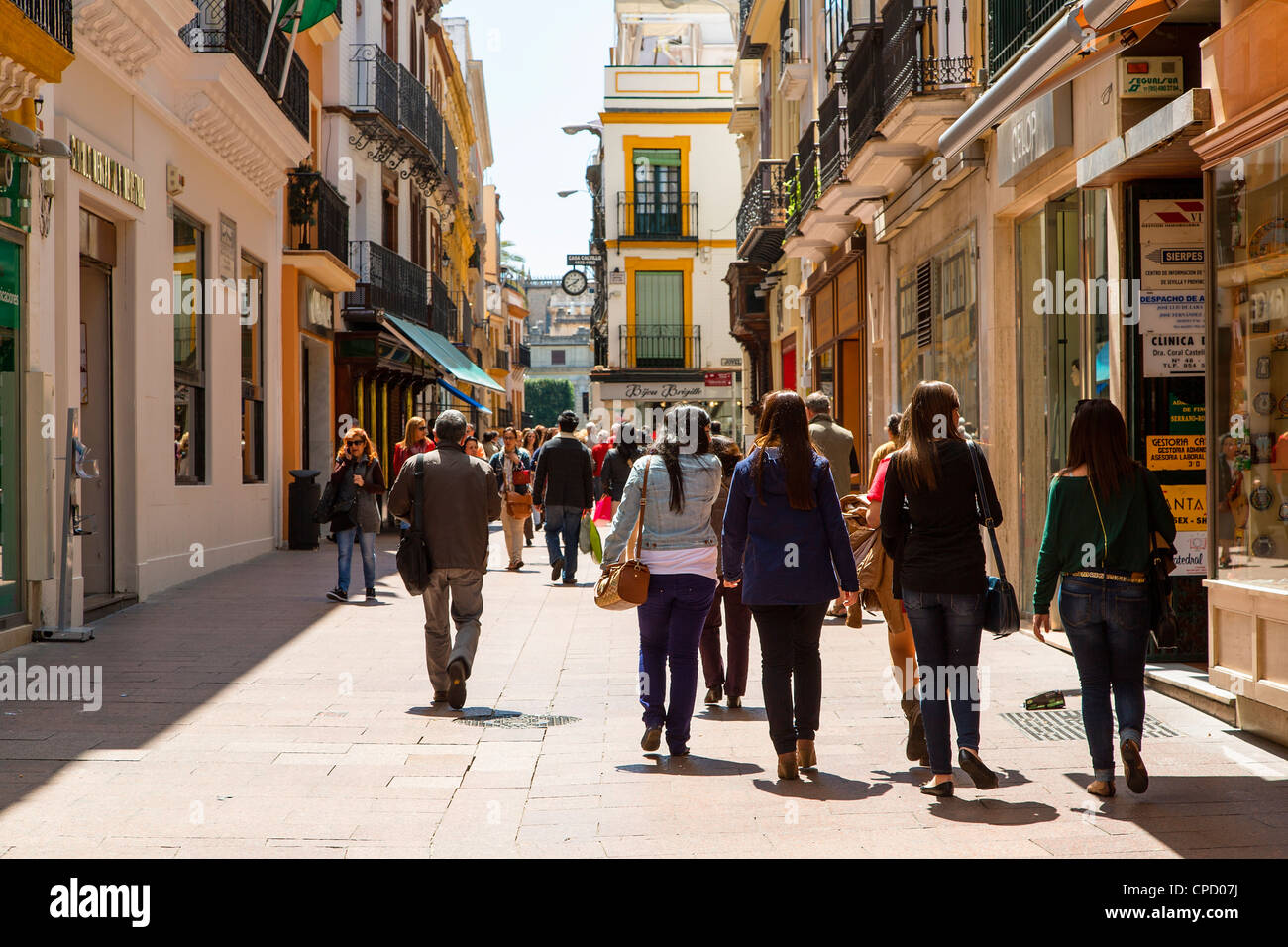 Sevilla Winkelen Europe Spain Andalusia Sevilla Shopping In Calle