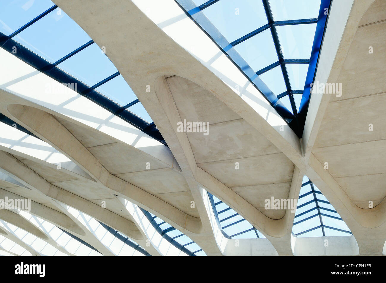 Lyon St Exupery Modern Architectural Detail Lyon St Exupery Stock Photo 48317533