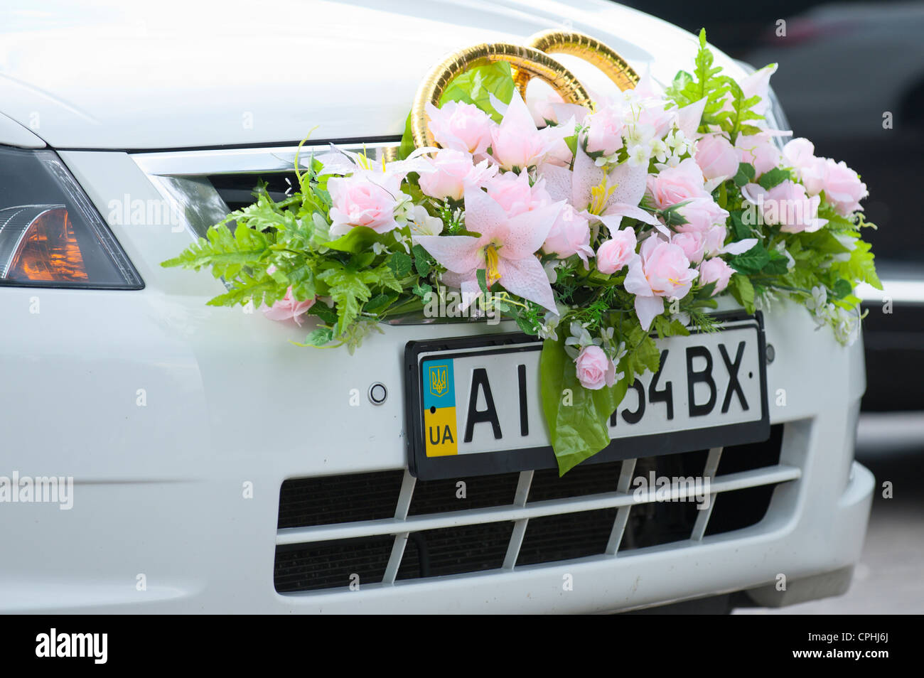 Car Decoration Weding Wedding Car Decoration Stock Photos Wedding Car Decoration Stock