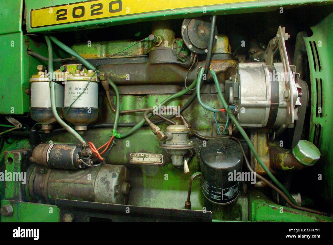 1020 John Deere Wiring Agriculture Engine Tractor Diesel Engine Made By John