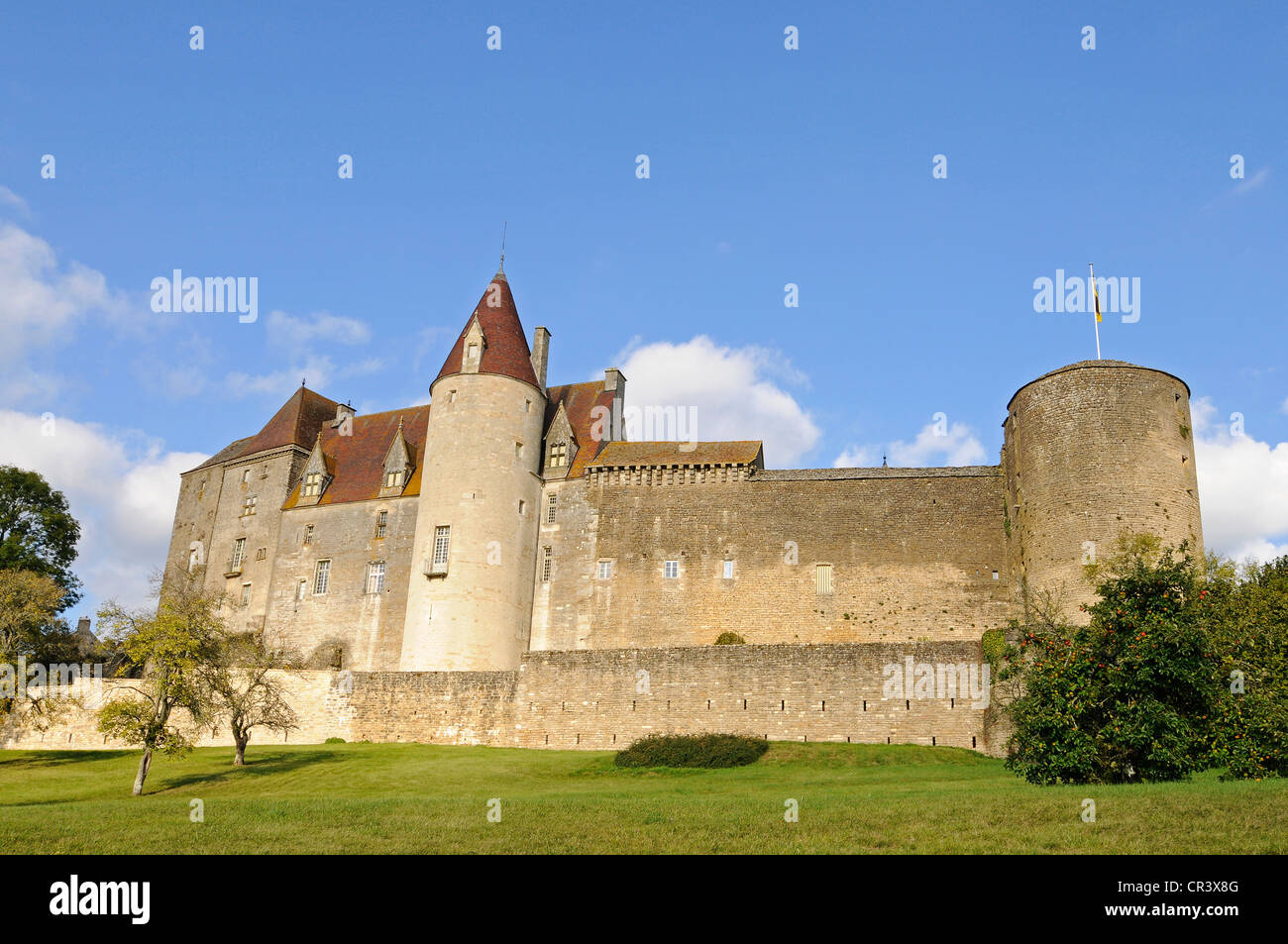 Bourgogne Chateau Chateau Castle Chateauneuf Dijon Cote D Or Bourgogne