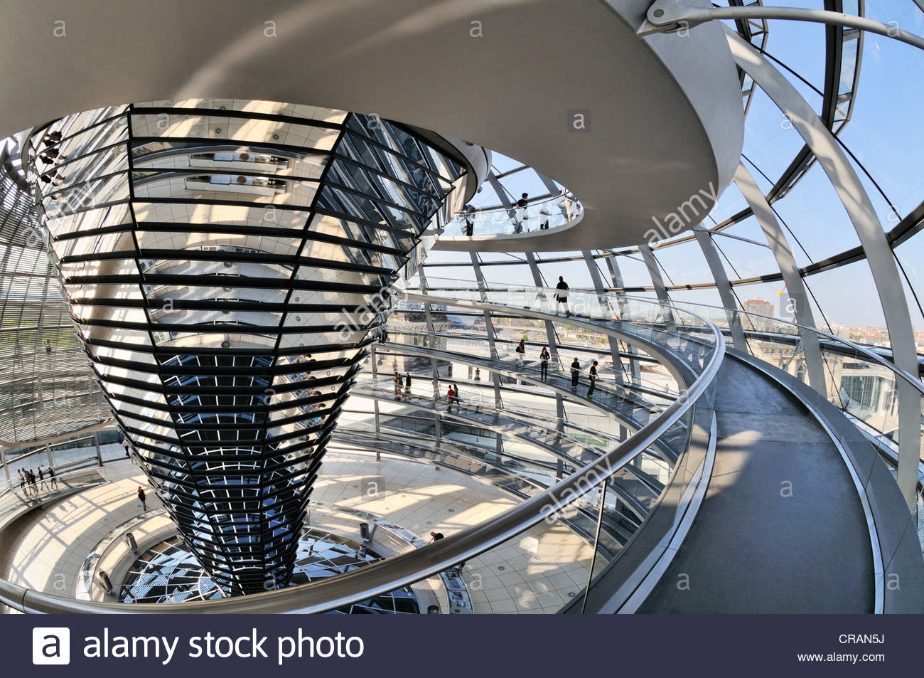 Interior Berlin Reichstag Building Dome Interior View Berlin Germany