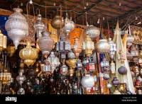 Moroccan lamps and lanterns made of sheet metal and ...