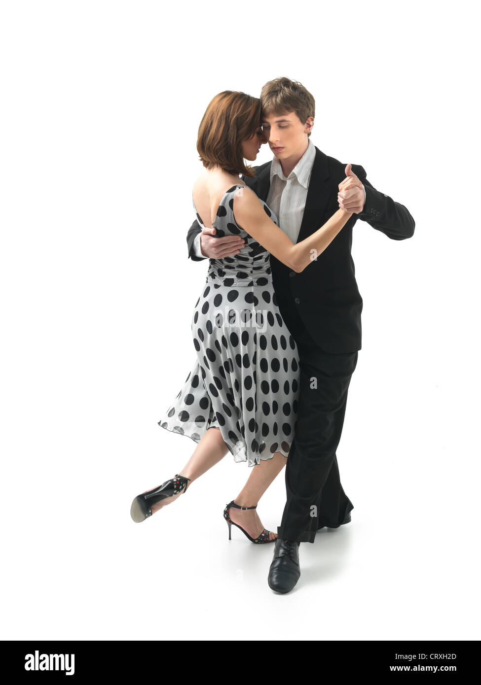 Classical Girl Live Wallpaper Download Young Couple Dancing Argentinian Tango On White