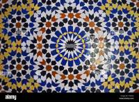 Moroccan design with tiles in Fes Stock Photo, Royalty ...
