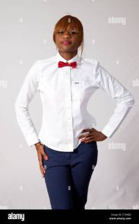 Red Bow Tie White Shirt Black Pants