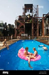 swimming pool at Kokerei Zollverein, Essen-Katernberg ...