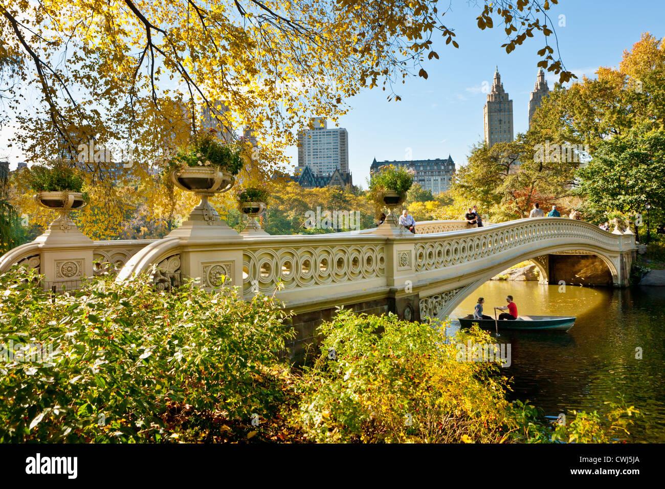 Panoramic Wallpaper Fall The Cast Iron Bow Bridge By Calvert Vaux Central Park