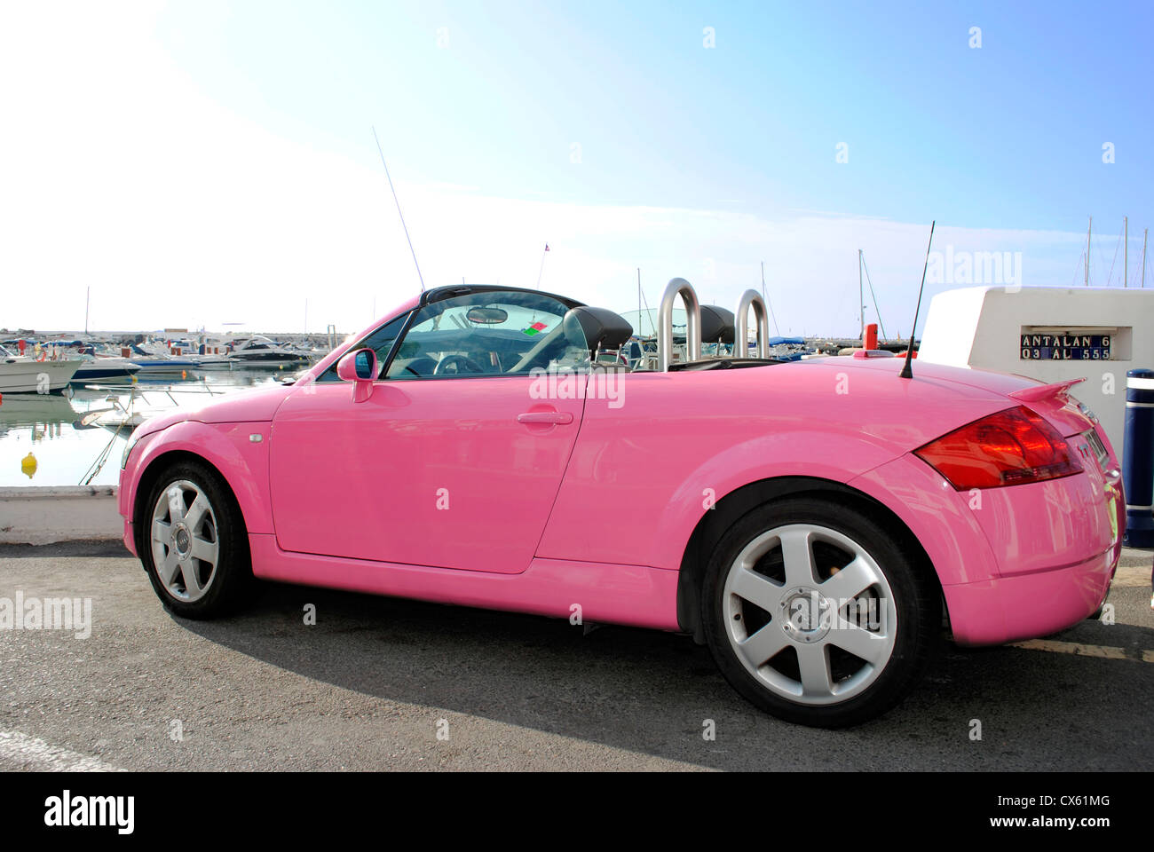 Audi Tt Rossa Pink Audi Tt Roadster Stock Photo 50534864 Alamy