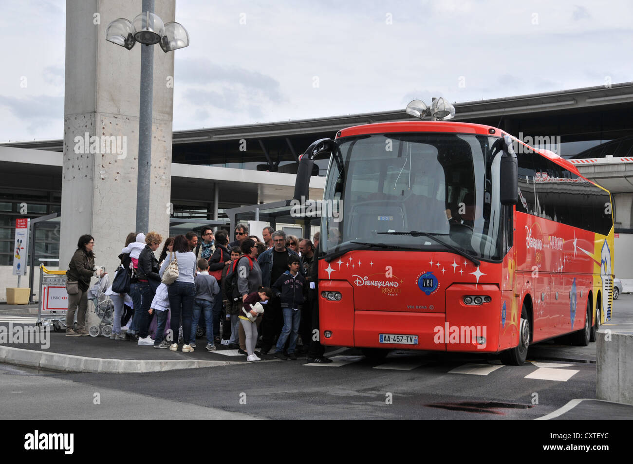 Bus Roissy Bus For Disneyland Roissy Charles De Gaulle Airport France