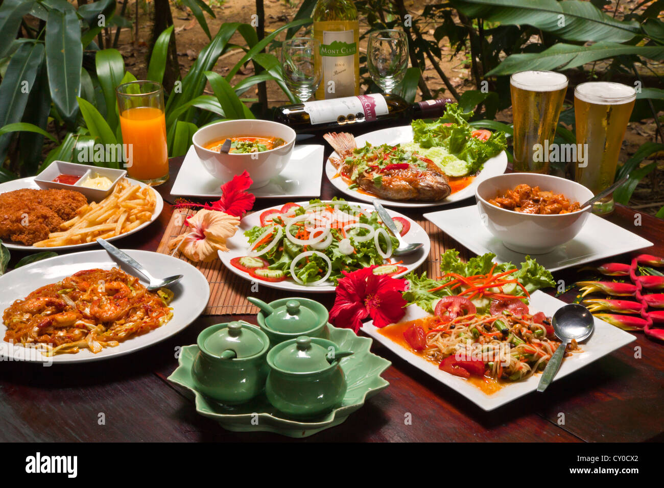 French Provincial Cuisine Delicious Thai Cuisine Is Served At Our Jungle House Near