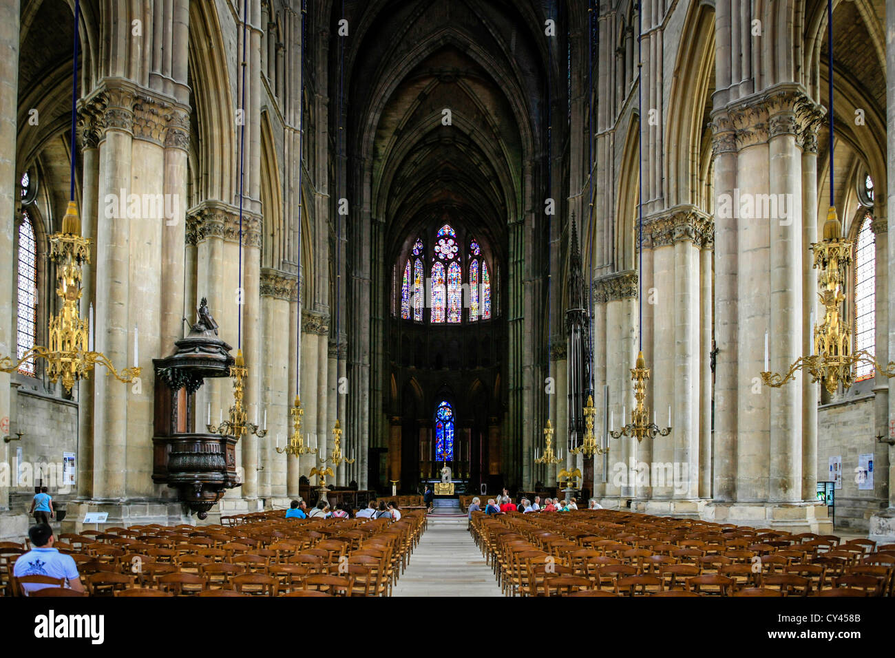 Interiors France Reims Cathedral Interior Stock Photos And Reims Cathedral