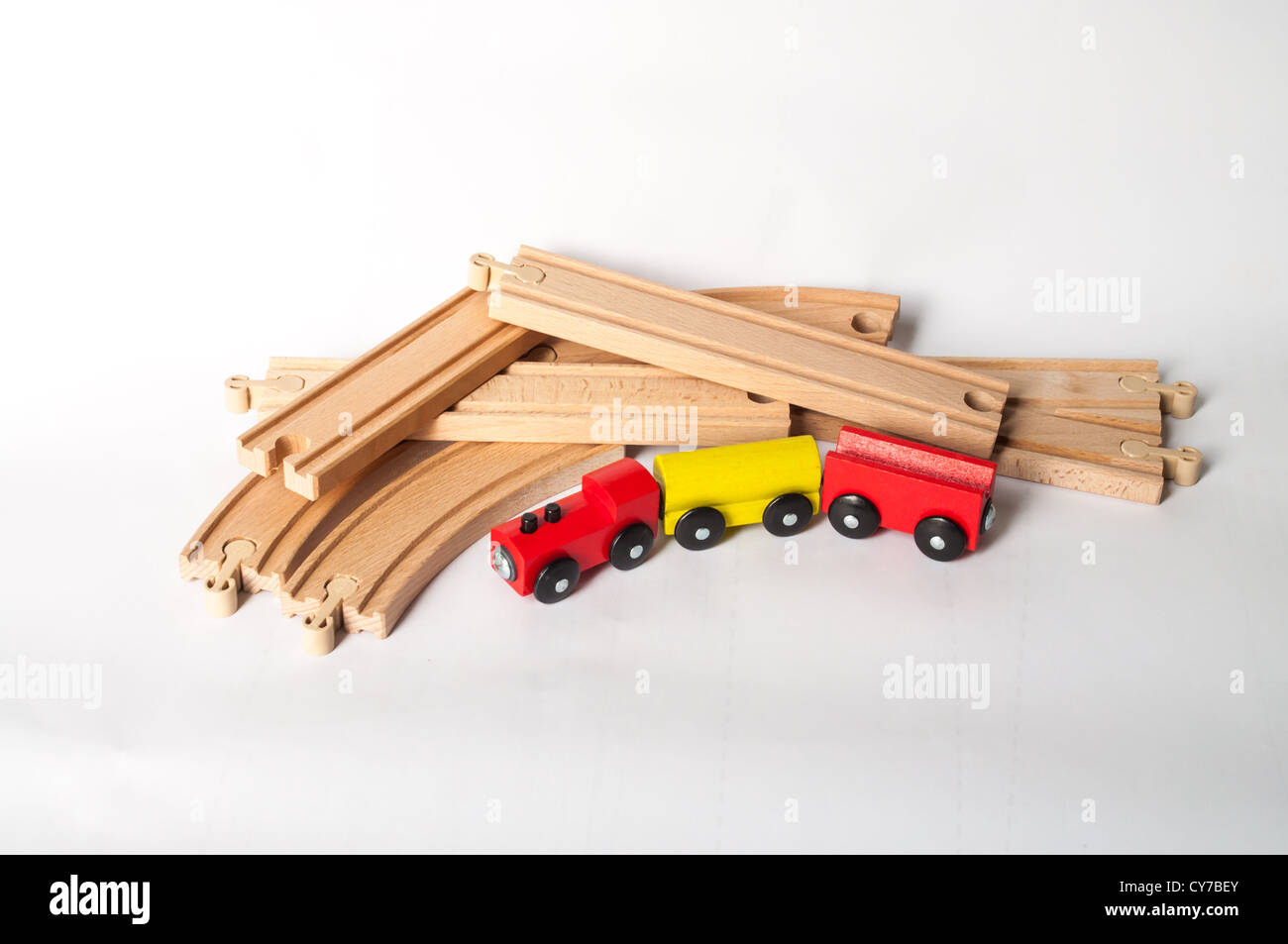 Wooden Train Tracks Toy Train Track Stock Photos And Toy Train Track Stock