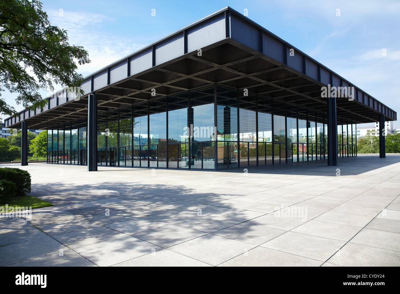 Mies Van Der Rohe Berlin Neue Nationalgalerie,new National Gallery In Berlin Designed By Stock Photo - Alamy