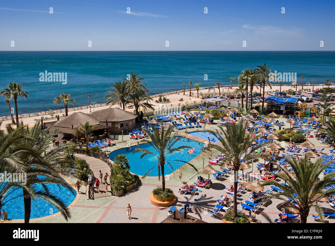 Piscinas Malaga Pool And Gardens Holiday Resort Sunset Beach Benalmadena Malaga