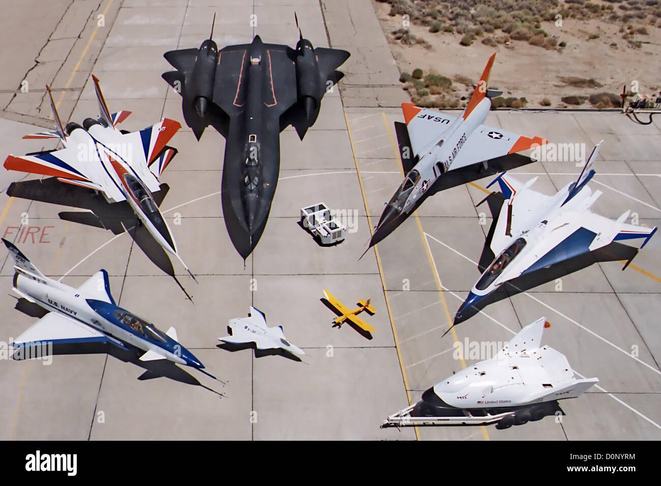 Fleet Of Nasa Planes Stock Photo 52113928 Alamy