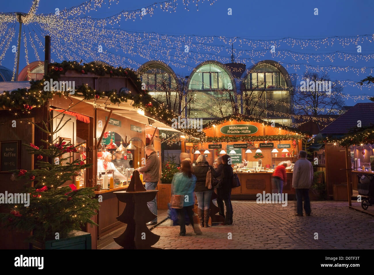 Street Food Lübeck Lubeck Winter Stock Photos And Lubeck Winter Stock Images