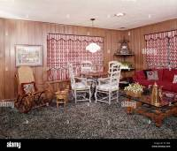 1960s 1970s LIVING ROOM INTERIOR SHAG WALL TO WALL CARPET ...