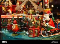 Vintage look Christmas toys and decorations in a store