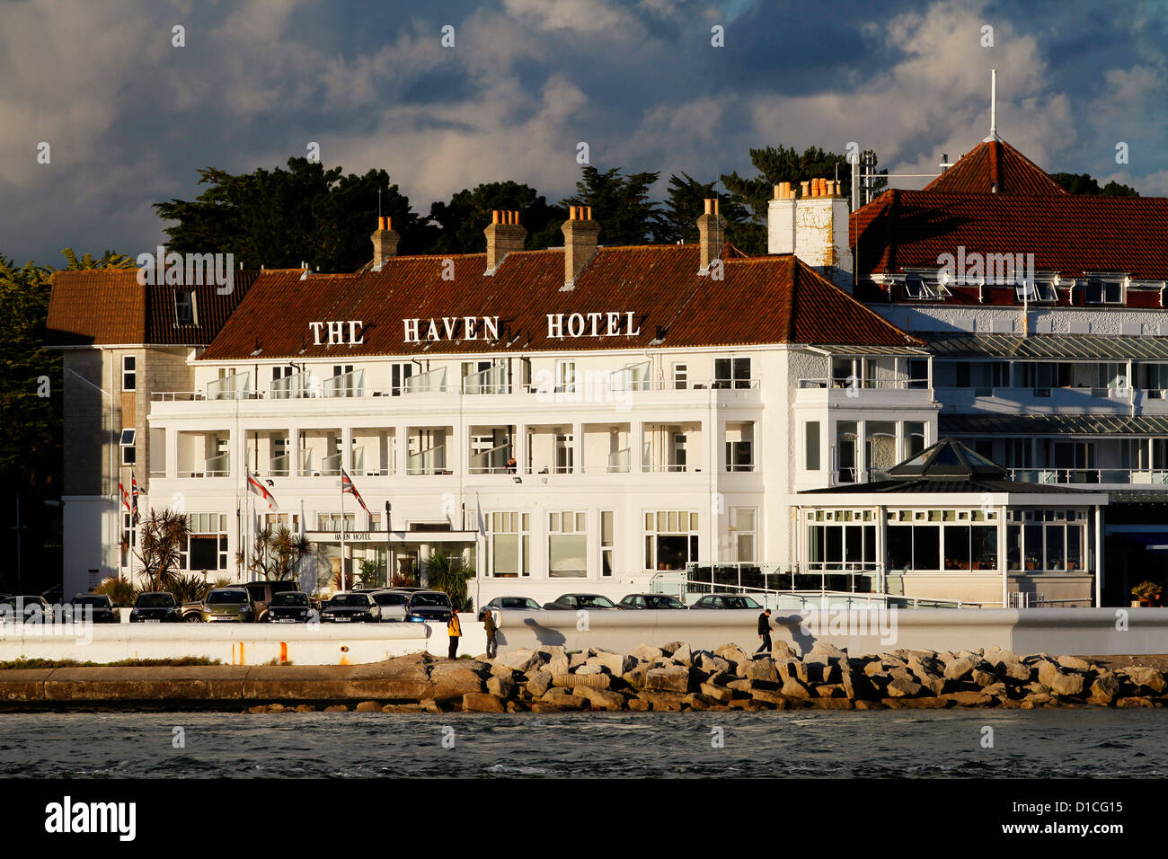 Bed And Breakfast Poole Harbour The Haven Hotel Sandbanks Poole Harbour Dorset England Stock