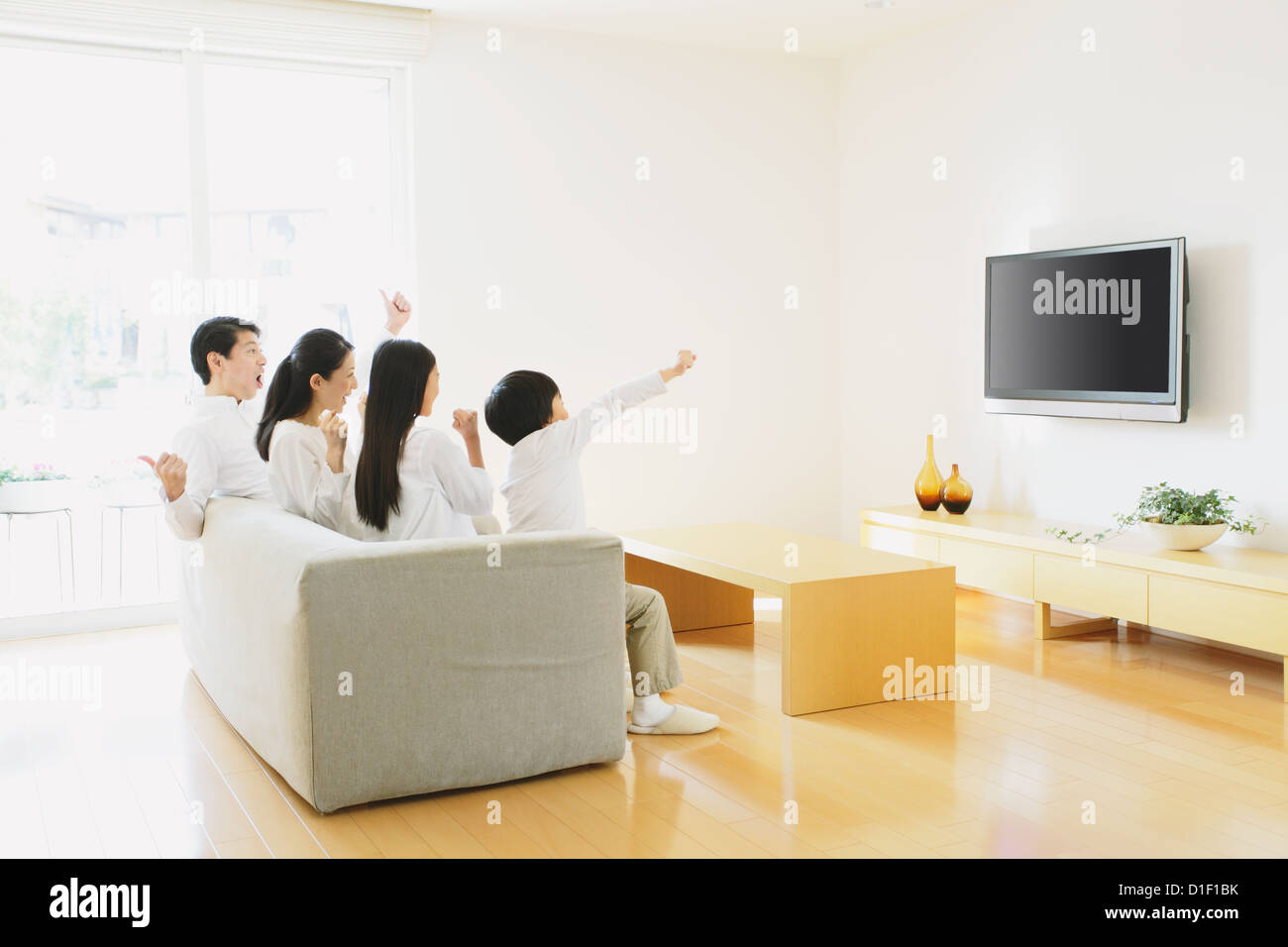 Living Room With Tv And People living room with tv and people