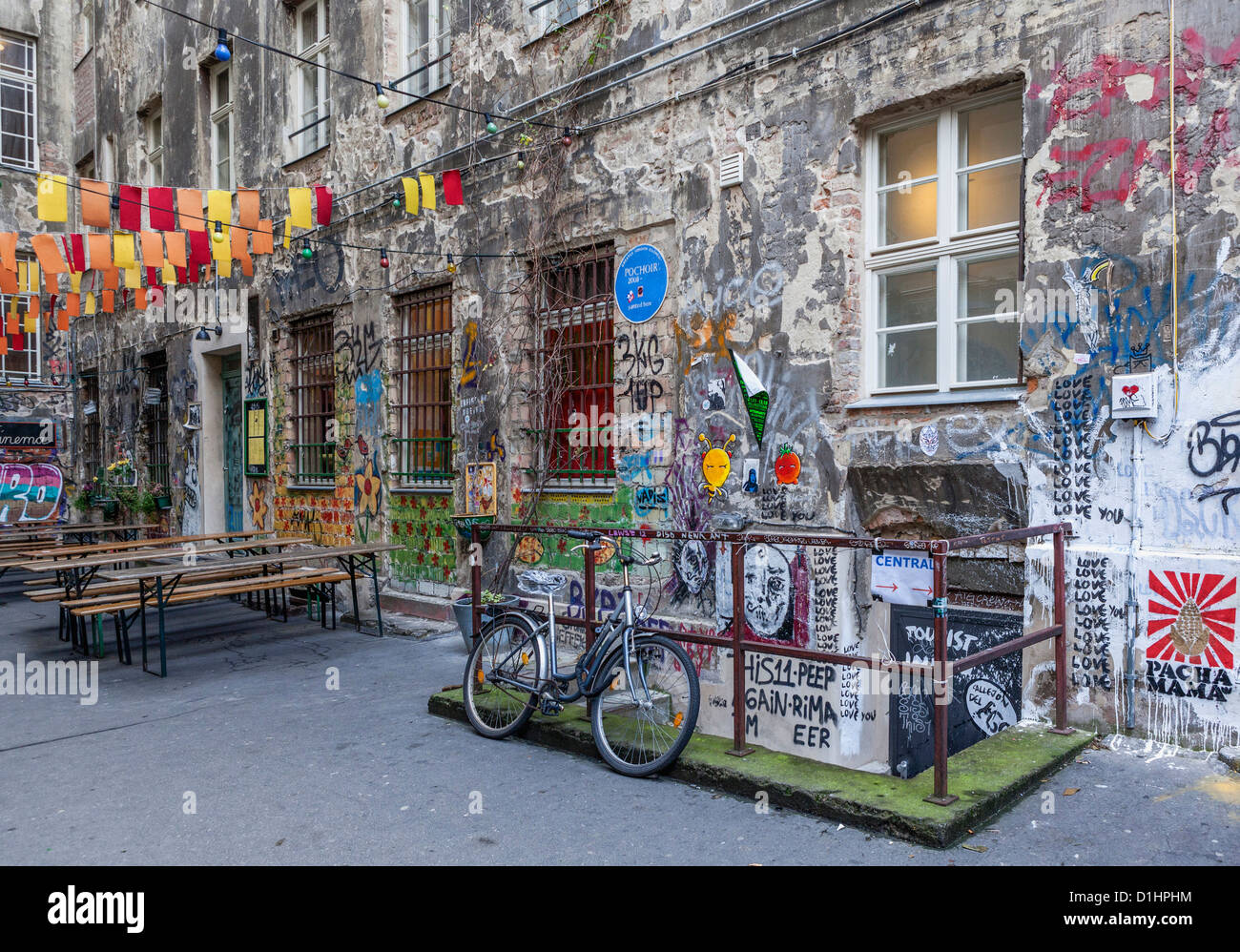 Courtyard Berlin Mitte Graffiti And Street Art Decorates The Inner Courtyard Of
