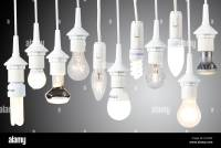 Different light bulbs, energy saving lamps. Electric light ...