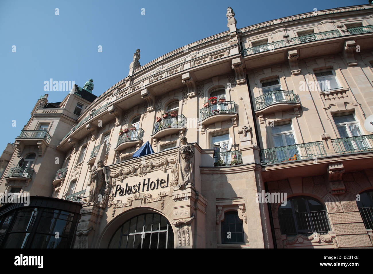 Art Nouveau Palace Hotel Wiesbaden Germany Art Nouveau Facade Of The Palace Hotel Stock