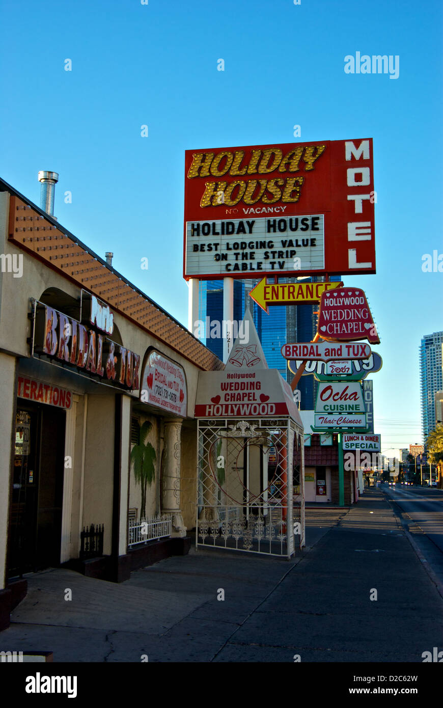 Hollywood Motel Seedy Old Section Of Las Vegas Boulevard Strip Hollywood Wedding