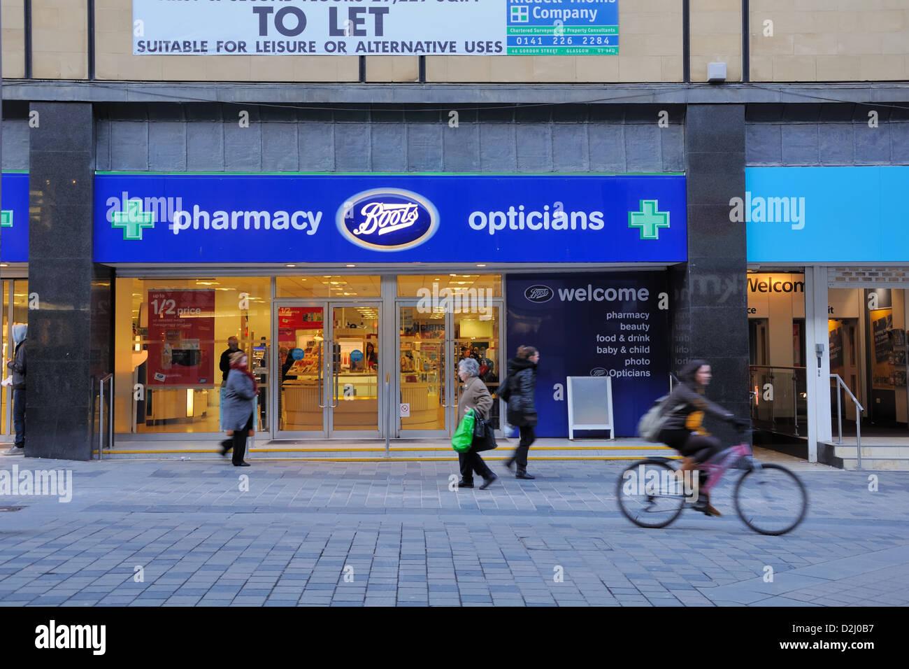 Boots Pharmacy In Glasgow Stock Photo 53255867 Alamy