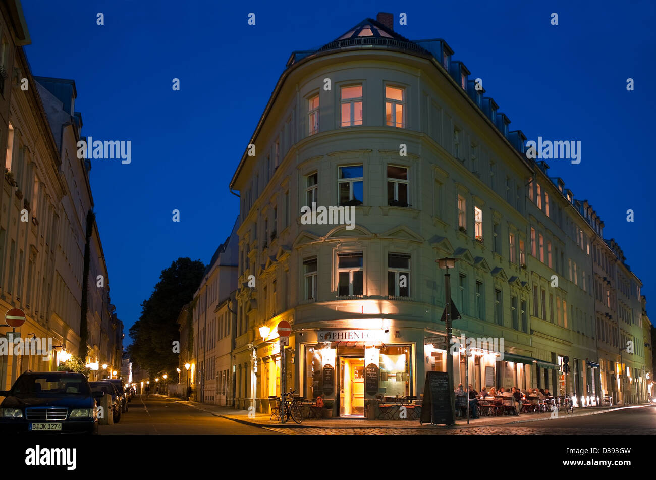 Berlin Germany Sophienstrasse Corner Grosse Hamburger Strasse Stock Photo Alamy