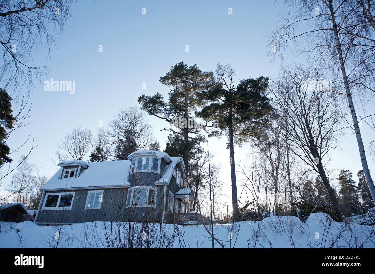 Woody Holzhaus Dill Sweden Wooden House In The Snowbound Village Trolldalen