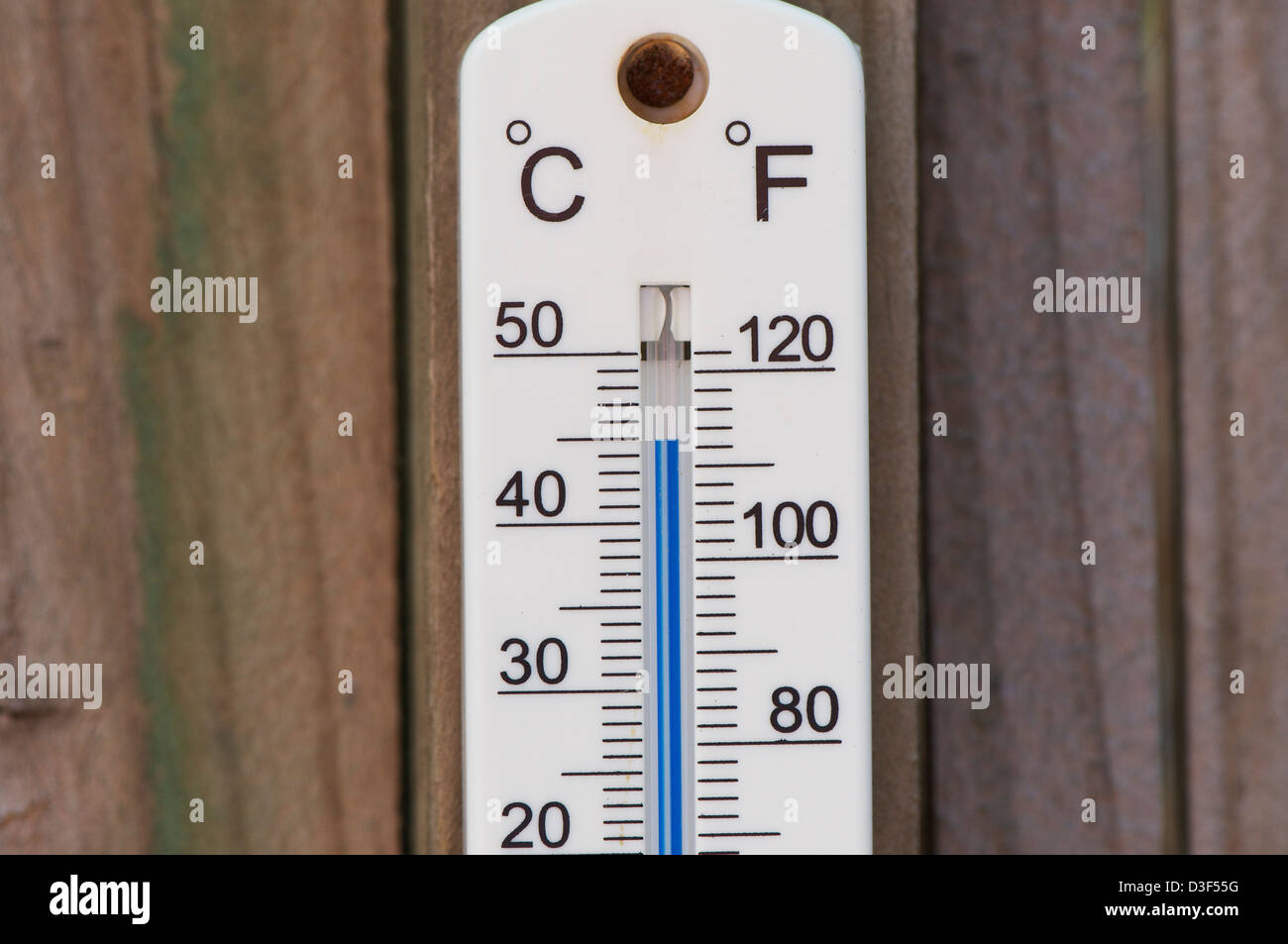 Thermometer Australia A Temperature Gauge Showing 45c In Sydney Australia Stock Photo