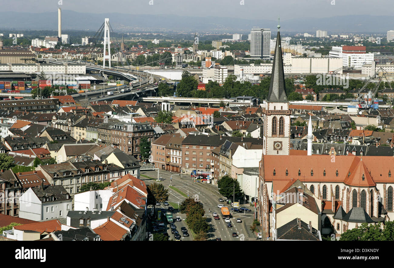 Mannheim Germany Dpa The Picture Shows A View Over Downtown Mannheim
