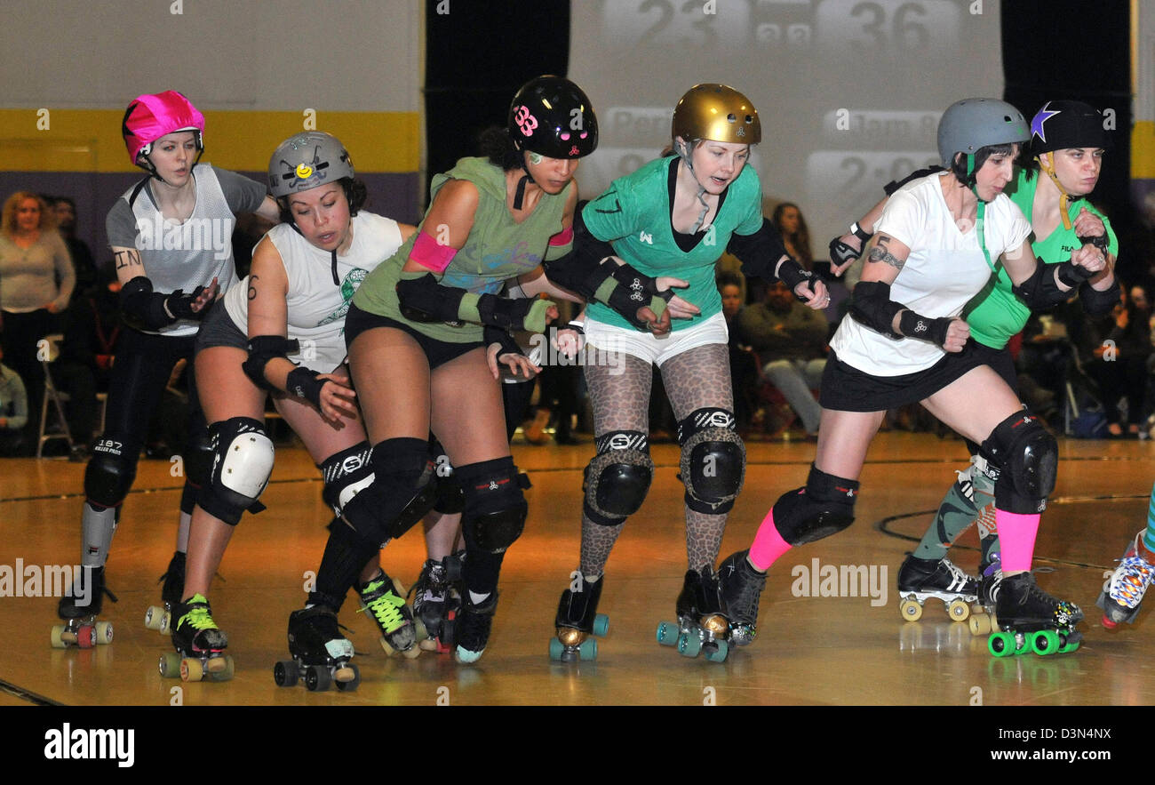 Amateur roller derby in groton ct usa
