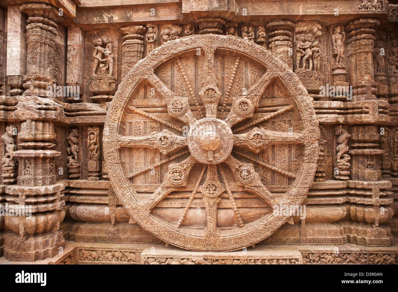 Indian Culture Wallpaper Hd Carving Details Of A Wheel At A Temple Konark Sun Temple